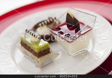 Tantalizing Italian Pastries stock photo, Beautiful Tantalizing Italian Pastries on a Plate. by Andy Dean