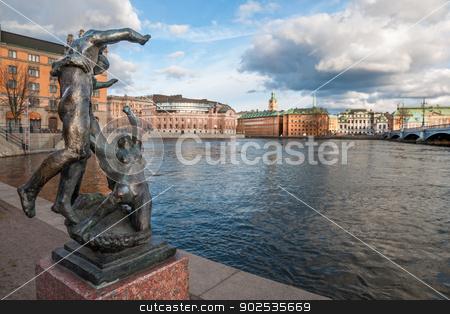 Gamla stan in Stockholm stock photo, View over The Old Town (Gamla Stan) in Stockholm, Sweden by Kalin Eftimov