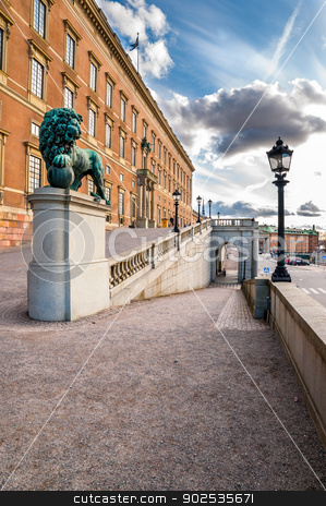 Gamla stan in Stockholm stock photo, The King's palace in Stockholm located in Gamla Stan viewed from the back entrance by Kalin Eftimov
