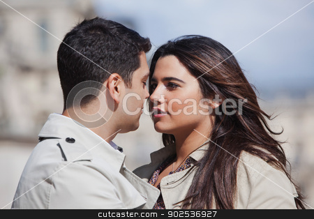 Monica-9294.jpg stock photo, Close-up of a young couple romancing in location by Gabriela Medina