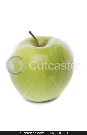 green apple stock photo, Close view of a fresh green apple isolated on a white background. by Mauro Rodrigues
