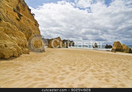 Wonderfull Portuguese beach stock photo, Wonderful view of a beautiful beach in the Prainha area, in the Algarve, Portugal.  by Mauro Rodrigues