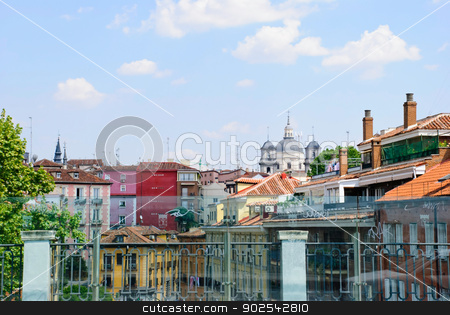 Madrid, Spain stock photo, Residential houses in Madrid, Spain by dinozzaver