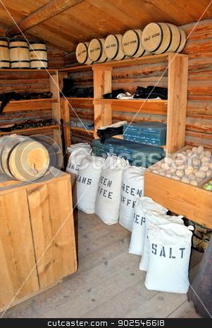 General store. stock photo, General store in the old west with various supplies for purchase. by OSCAR Williams