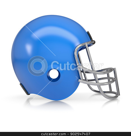 American football helmet stock photo, American football helmet. Isolated render on a white background by cherezoff