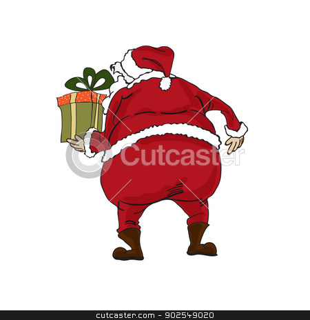 Santa isolated on white backgound stock vector clipart, Santa isolated on white backgound by balasoiu