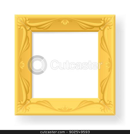 Frame stock photo, Wooden frame for photos. Illustration on white  by dvarg