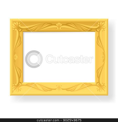 Frame stock photo, Wooden frame. Illustration on white background for design by dvarg