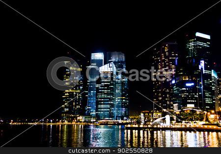 Marina bay in the night1 stock photo, Marina bay in the night1 by Gjee