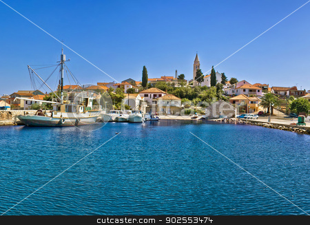 Town of Kali, Island of Ugljan stock photo, Town of Kali waterfront, Island of Ugljan, Dalmatia, Croatia by xbrchx