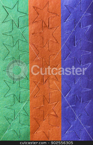 Sheet of colorful star stickers stock photo, Sheet of colorful star stickers in extreme closeup, studio by Bryan Mullennix