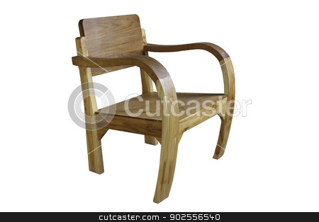 Wooden Chair  stock photo, Wooden Chair on White Background by punsayaporn