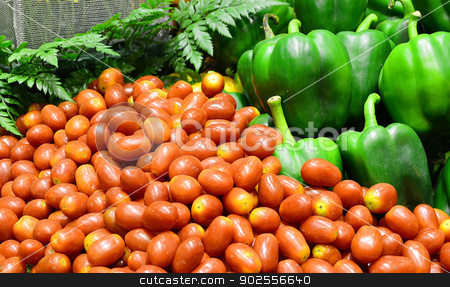 vegetables in market stock photo, vegetables in market, Chiangmai Thailand by Lekchangply