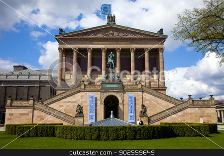 Old National Gallery in Berlin stock photo, The Old National Gallery (Alte Nationalgalerie) in Berlin, Germany. by Chris Dorney