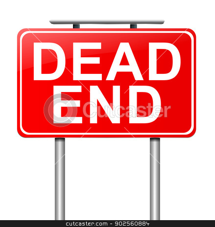 Dead end concept. stock photo, Illustration depicting a sign with a dead end concept. by Samantha Craddock