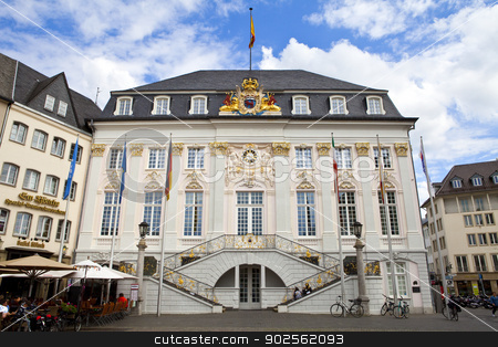 Historic Town Hall of Bonn in Germany stock photo, The historic Town Hall (Rathaus) of Bonn in Germany.  View from the Market Square. by Chris Dorney