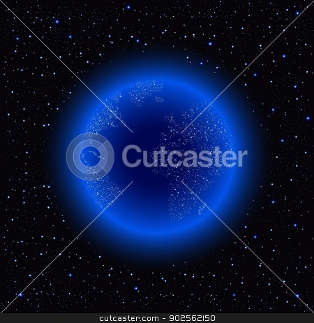 Earth in the space. stock vector clipart, Earth in the space. Vector illustration. by konan_ai