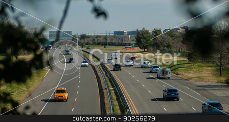 highway traffic stock photo, highway traffic during daytime in a city by digidreamgrafix.com