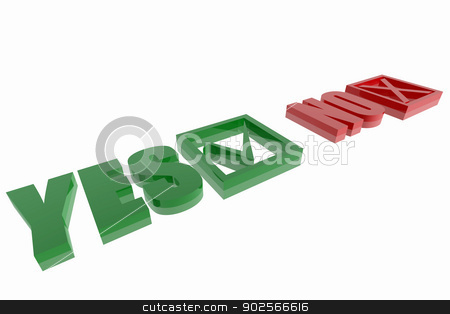 Yes and No options symbols stock photo, Yes and No options symbols by genialbaron