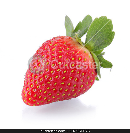 strawberry stock photo, a delisious strawberry on white background by odua images