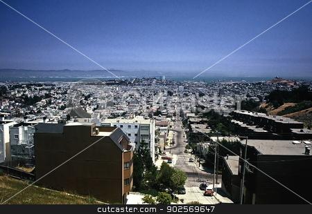San Francisco, California stock photo, Looking towards downtown - San Francisco, California by Anthony Dezenzio