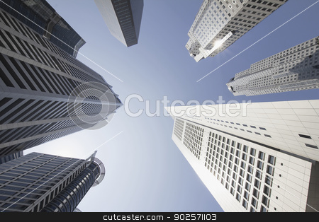 Office Buildings in Singapore Financial District stock photo, Office Building Towers in Singapore Financial Central Business District by Jit Lim