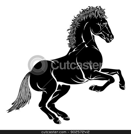 Stylised horse illustration stock vector clipart, An illustration of a stylised horse perhaps a horse tattoo by Christos Georghiou