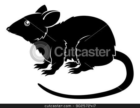 Stylised rat illustration stock vector clipart, An illustration of a stylised rat perhaps a rat tattoo by Christos Georghiou