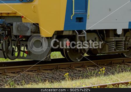 train on railroad stock photo, train moving on railroad tracks by Jozsef Demeter