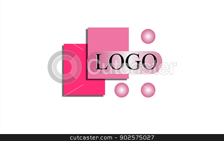 Pink Logo Design stock vector clipart, Geometric shapes in shades of pink creating a clean and simple logo design for any business.  by Leah Fallesen
