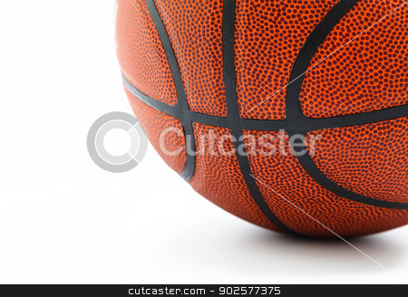 Basket ball isolated on white background stock photo, Basket ball isolated on white background with blank copyspace by pattarastock