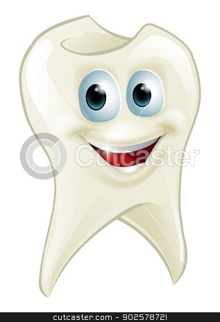 Tooth man stock vector clipart, An illustration of a cartoon tooth man character mascot by Christos Georghiou
