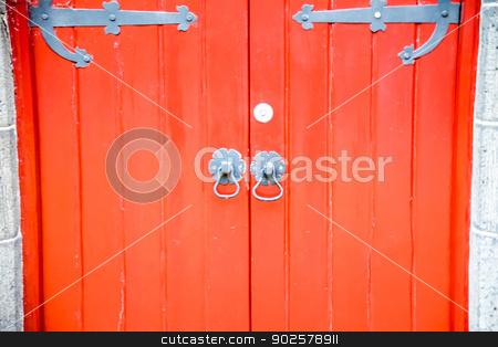 Red door church2 stock photo, Red Door church by Gjee