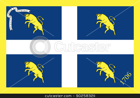 Flag of city of Turin stock photo, Flag of city of Turin in Italy by Martin Crowdy