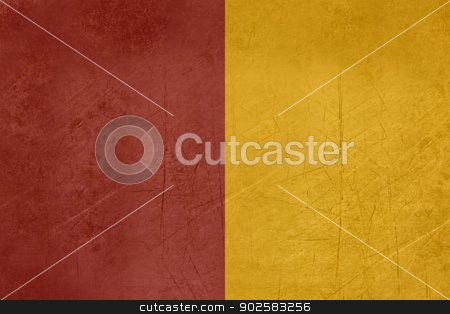 Grunge City of Rome Flag stock photo, Grunge official flag of city of Rome in Italy by Martin Crowdy