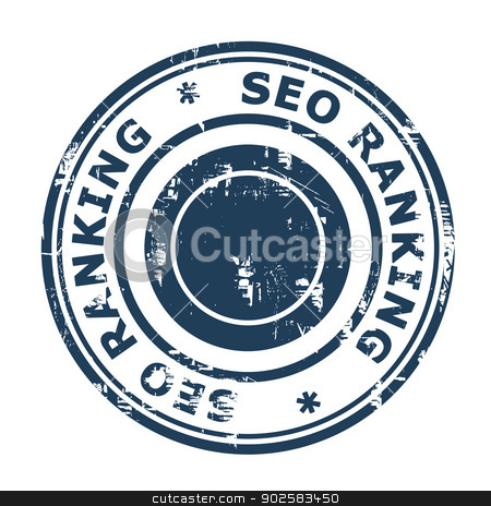 SEO ranking concept stamp stock photo, SEO ranking concept stamp isolated on a white background. by Martin Crowdy