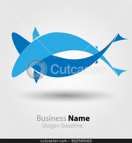 Abstract vector brand logo stock vector clipart, Originally designed abstract vector  brand logo by Maria Repkova
