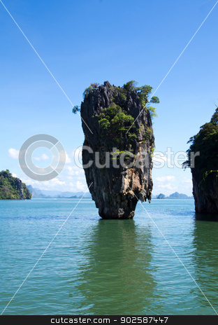 island in thailand stock photo, james bond island in thailand by Vitaliy Pakhnyushchyy