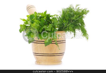 herbs  stock photo, Healing herbs on white background  by Vitaliy Pakhnyushchyy