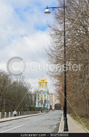 Catherine Palace stock photo, Catherine Palace at Tsarskoye Selo (Pushkin), St. Petersburg, Russia  by boonsom