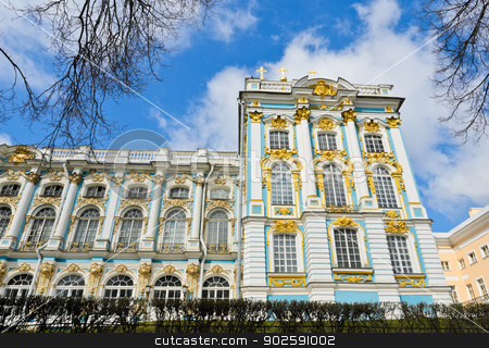 Catherine Palace, Russia  stock photo, Catherine Palace at Tsarskoye Selo (Pushkin), St. Petersburg, Russia  by boonsom