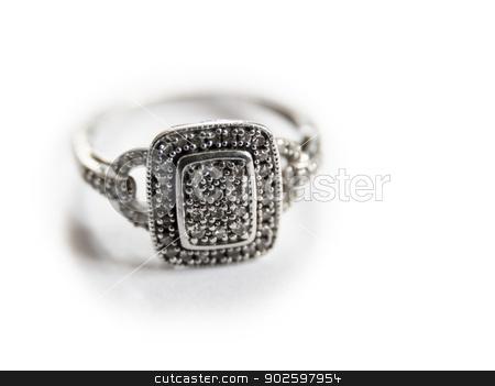 White gold ring stock photo, White gold ring on white background by Dutourdumonde