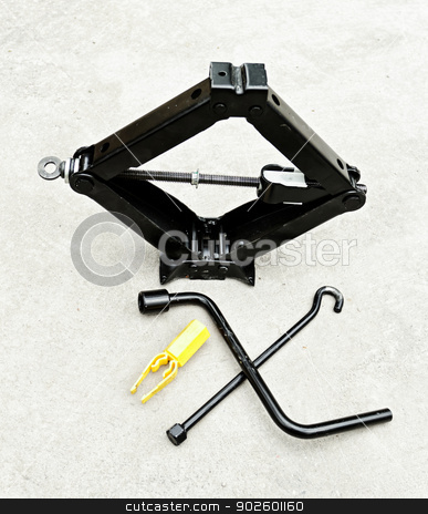 car lifter set stock photo, car hand lifter set for tire changing by Jozsef Demeter