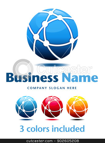 Business Logo stock vector clipart, Business Logo Symbol Name Concept by Fenton