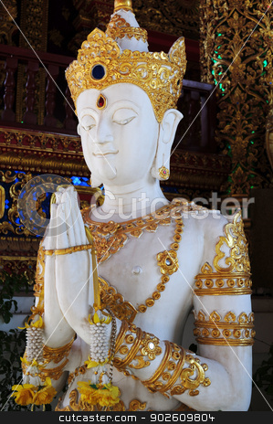 Buddha statue in Thailand stock photo, Buddha statue in a historical temple in Thailand by John Young