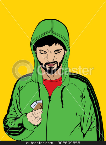 Drug dealer stock vector clipart, Illustration of a drug dealer by Richard Laschon