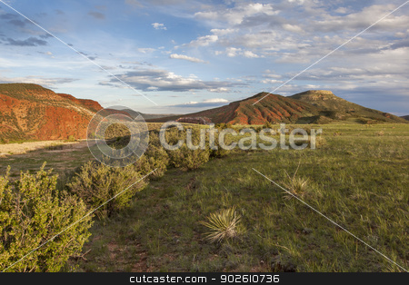 mountain ranch stock photo, mountain ranch landscape in Colorado - Red Mountain Open Space by Marek Uliasz