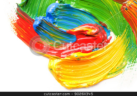Abstract acrylic painted background  stock photo, Abstract acrylic painted background  by photomyheart