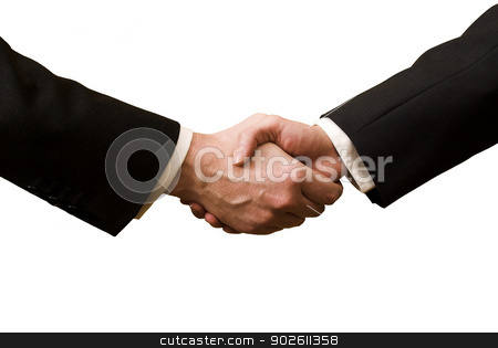 Two businessman shaking hands  stock photo, Two businessman shaking hands  by photomyheart