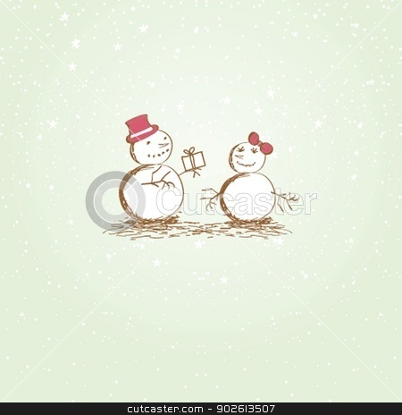 Snowman Character stock photo, Snowman Character by Maria Cherevan
